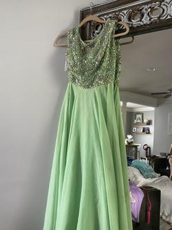 Sherri Hill Green Size 2 A-line Dress on Queenly