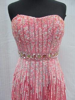 Style 8503 Sherri Hill Pink Size 2 Tulle Tall Height Straight Dress on Queenly