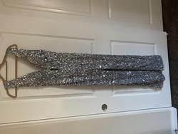 Silver Size 2 Jumpsuit Dress on Queenly