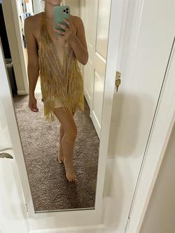 Jovani Gold Size 0 Nude Cocktail Dress on Queenly