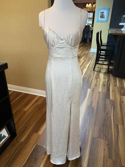 Angel Biba Nude Size 2 Medium Height Side slit Dress on Queenly
