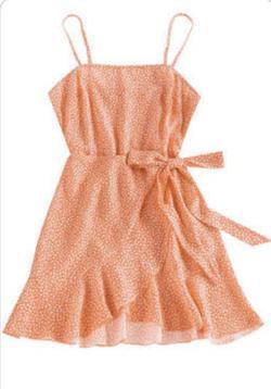 Orange Size 6 A-line Dress on Queenly