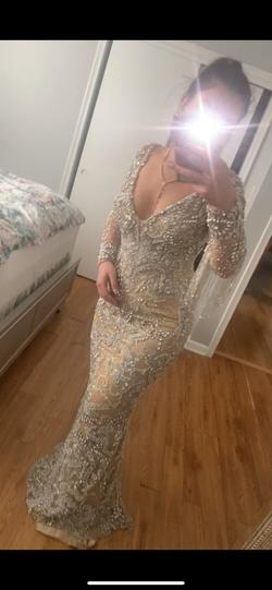 Nude Size 4 Mermaid Dress on Queenly