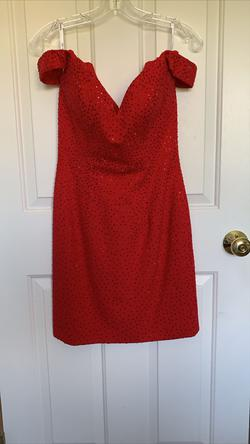 Sherri Hill Red Size 6 Pageant Cocktail Dress on Queenly