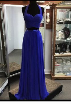 Sherri Hill Blue Size 0 A-line Dress on Queenly