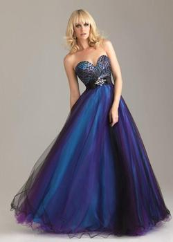 Style 6462 Madison James Blue Size 8 Tall Height A-line Dress on Queenly