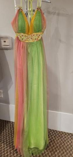 Style P20767 Precious Formals Multicolor Size 8 A-line Dress on Queenly