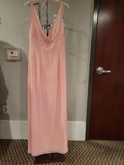 Style 1862 Marys Bridal Pink Size 8 Tall Height Wedding Guest Straight Dress on Queenly