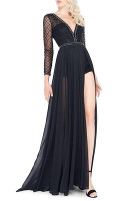 Mac Duggal  Black Size 14 Plus Size Jumpsuit Dress on Queenly