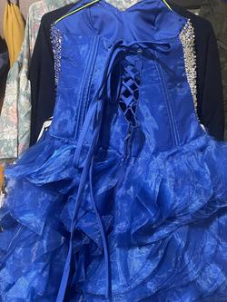 Blue Size 30 Ball gown on Queenly