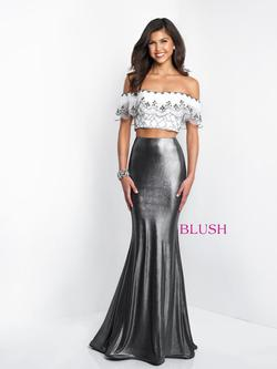 Style 11558 Blush Prom Silver Size 0 Tall Height Mermaid Dress on Queenly