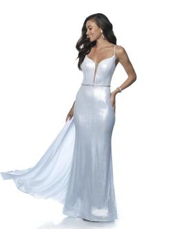 Style 11983 Blush Prom White Size 2 Tall Height Mermaid Dress on Queenly