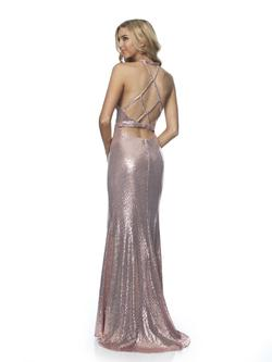 Style 11887 Blush Prom Light Pink Size 4 Sequin Side slit Dress on Queenly