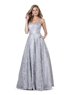 Style 5809 Blush Prom Silver Size 6 Tall Height Lace A-line Dress on Queenly