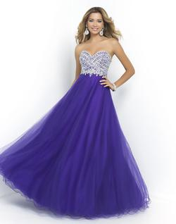 Style 5426 Blush Prom Blue Size 8 Pageant Tall Height A-line Dress on Queenly