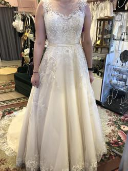 Maggie Sottero White Size 12 Wedding Cap Sleeve Train Dress on Queenly