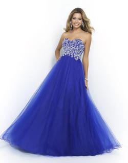 Style 5425 Blush Prom Royal Blue Size 16 Pageant A-line Dress on Queenly