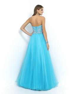 Style 5425 Blush Prom Blue Size 10 Prom Pageant A-line Dress on Queenly