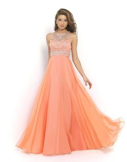 Style 10001 Blush Prom Orange Size 6 Coral Sequin A-line Dress on Queenly