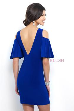 Style C416 Blush Prom Blue Size 6 Pageant Sorority Formal Graduation Cocktail Dress on Queenly