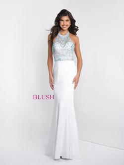 Style C1028 Blush Prom White Size 2 Pageant Mermaid Dress on Queenly