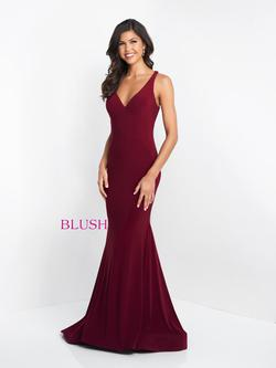 Style C1018 Blush Prom Red Size 6 Pageant Sorority Formal Tall Height Mermaid Dress on Queenly