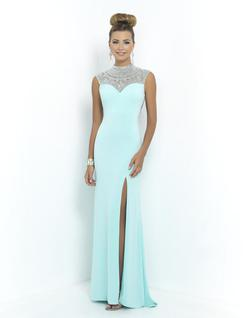 Style 9988 Blush Prom Blue Size 2 Straight Tall Height Mermaid Dress on Queenly