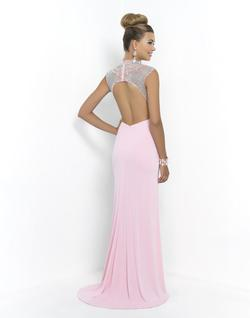 Style 9988 Blush Prom Pink Size 6 Side Slit Straight Tall Height Mermaid Dress on Queenly
