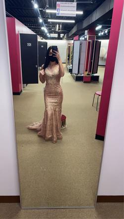 Jovani Pink Size 0 Mermaid Dress on Queenly