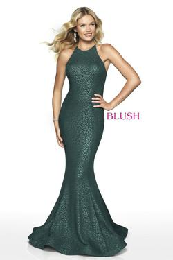 Style 11711 Blush Prom Green Size 4 Halter Sorority Formal Tall Height Mermaid Dress on Queenly