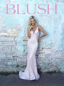Style 11700 Blush Prom Pink Size 0 Pageant Tall Height Mermaid Dress on Queenly