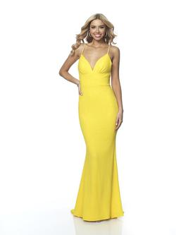 Style 11891 Blush Prom Yellow Size 8 Sorority Formal Mermaid Dress on Queenly