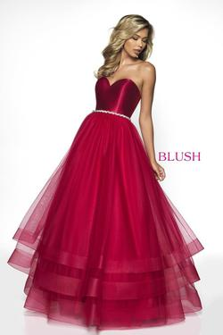 Style C2036 Blush Prom Red Size 8 Quinceanera Tall Height Ball gown on Queenly