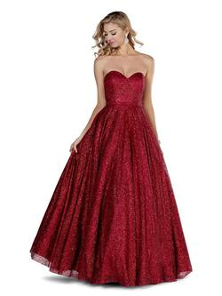Style 5804 Blush Prom Red Size 12 Ball gown on Queenly