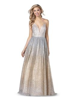 Style 5802 Blush Prom Silver Size 8 Prom Tall Height Ball gown on Queenly