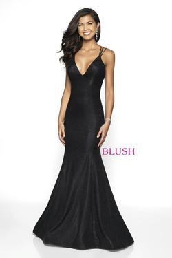 Style 11761 Blush Prom Black Size 2 Pageant Tall Height Mermaid Dress on Queenly