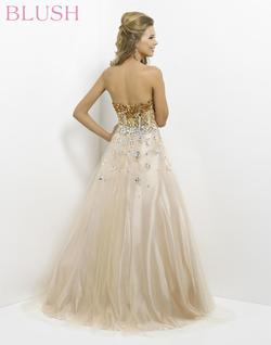 Style 5314 Blush Prom Gold Size 6 Quinceanera Tulle Tall Height Pink Ball gown on Queenly