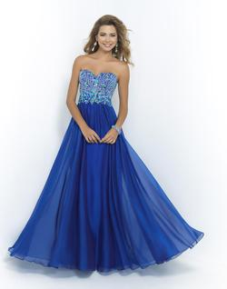 Style 9995 Blush Prom Blue Size 4 Tulle Tall Height A-line Dress on Queenly