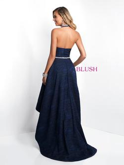 Style 11553 Blush Prom Blue Size 8 Halter Tall Height Pink A-line Dress on Queenly