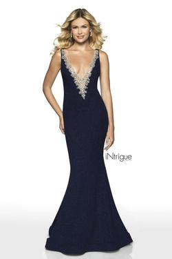 Style 516 Blush Prom Blue Size 0 Prom Mermaid Dress on Queenly
