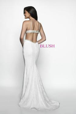 Style C2037 Blush Prom White Size 2 Pageant Mermaid Dress on Queenly