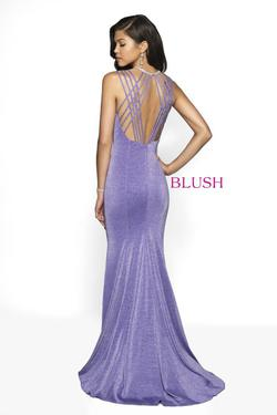 Style 11745 Blush Prom Purple Size 2 Violet Mermaid Dress on Queenly