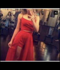 Red Size 00 Jumpsuit Dress on Queenly