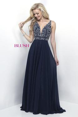 Style 11257 Blush Prom Blue Size 4 Pageant Tall Height A-line Dress on Queenly