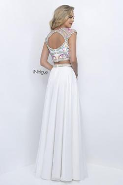 Style 287_Intrigue Blush Prom White Size 4 Two Piece Prom Side slit Dress on Queenly