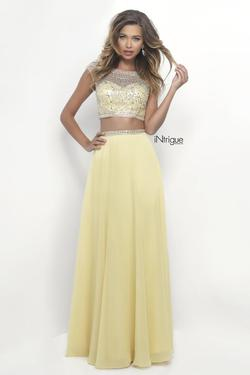 Style 272_Intrigue Blush Prom Yellow Size 8 Two Piece Pageant Straight Dress on Queenly