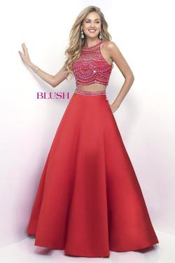 Style 5624 Blush Prom Pink Size 6 Quinceanera Halter Tall Height Ball gown on Queenly