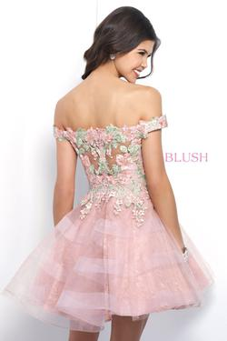 Style 11382 Blush Prom Pink Size 2 Pageant Flare Prom Cocktail Dress on Queenly