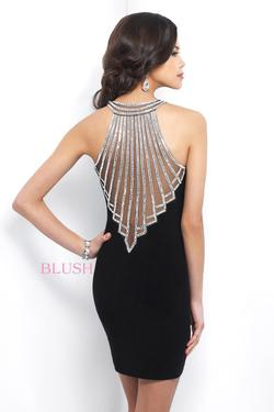 Style C428 Blush Prom Black Size 14 Sorority Formal Tall Height Wedding Guest Cocktail Dress on Queenly