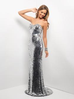 Style 9550 Blush Prom Silver Size 14 Prom Pageant Straight Dress on Queenly